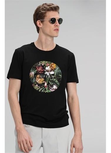 Lufian Marsel Modern Grafik T- Shirt  Siyah